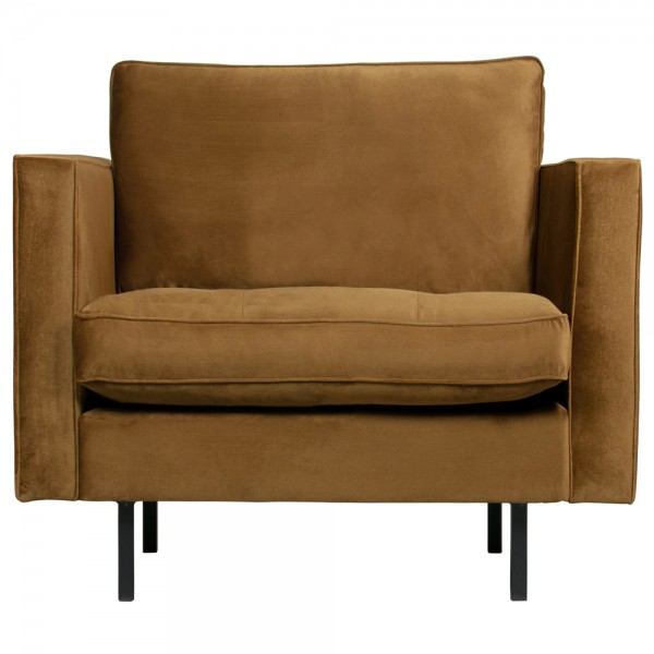 1,5 Sitzer Sessel Rodeo Classic Samt honiggelb Lounge Armlehnsessel Fernsehsessel