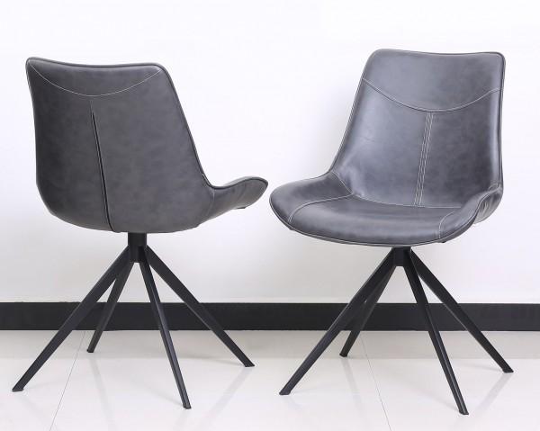 2´er Set Stuhl Lewis anthrazit Schalenstuhl