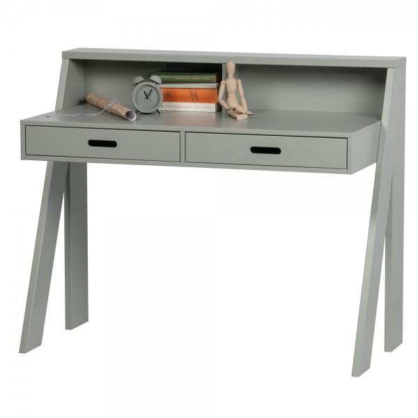 woood Schreibtisch Connect 112 x 55 cm Kiefer grau