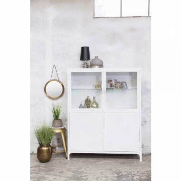 industrie vitrinenschrank iris schrank vitrine metallschrank metall vintage wei new maison. Black Bedroom Furniture Sets. Home Design Ideas