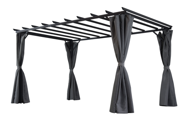 Pergola Gartenpergola Piode 360 x 303 cm grau