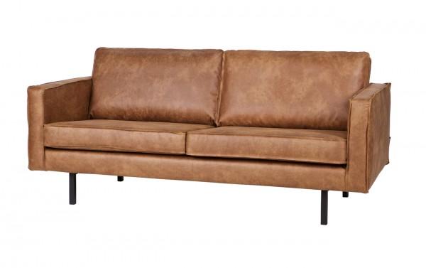 BePureHome 2,5 Sitzer Sofa RODEO Leder Ledersofa cognac