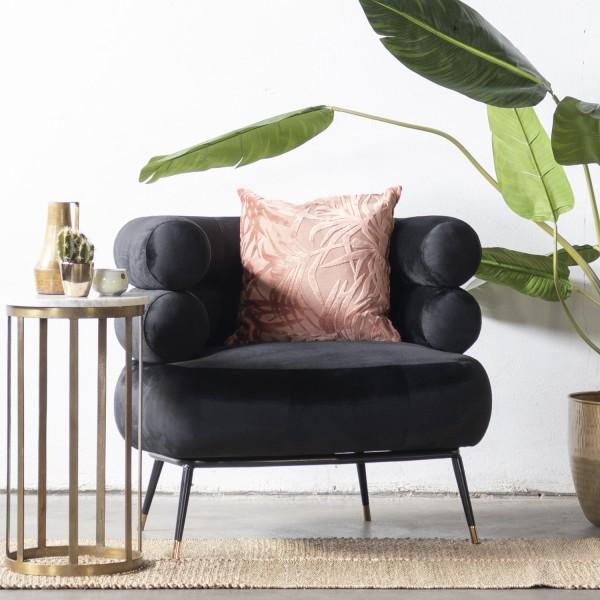 GIGA Lounge Sessel Ruby Samt schwarz Polstersessel