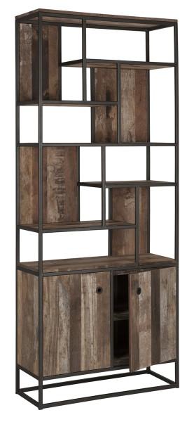 d-Bodhi Regal Bücherregal TUAREG mit 2 Türen recyceltes Teak Holz