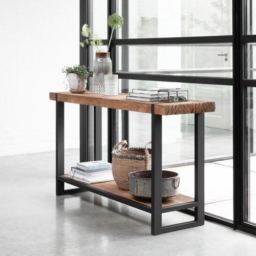 Sideboard Konsole Teak Konsolentisch BEAM 140 cm Wandkonsole Holz