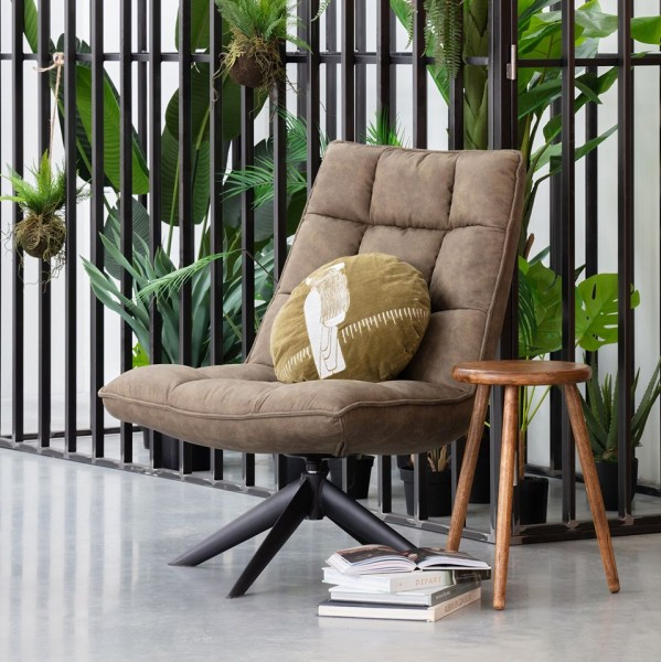 woood Loungesesel Sessel drehbar Jouke grün