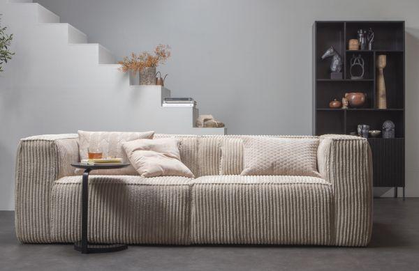 woood 3,5 Sitzer Sofa Bean Cord Kord Ribcord natur