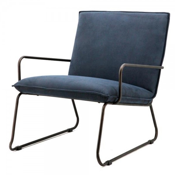Armlehnsessel DELTA blau Sessel Relaxsessel Loungesessel Clubsessel Fernsehsessel