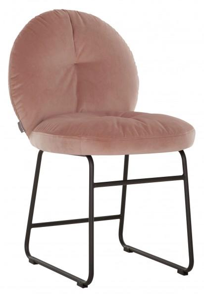 MUST Living Stuhl BOUTON Esszimmerstuhl Samt gepolstert rosa