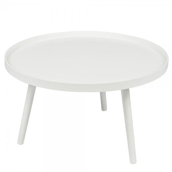 Beistelltisch Couchtisch MESA I Ø 60 cm Tisch Kaffeetisch Sofatisch MDF weiß