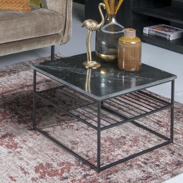 Couchtisch Dian Marble 55 x 55 cm Metall schwarz Marmor schwarz Sofatisch Tisch