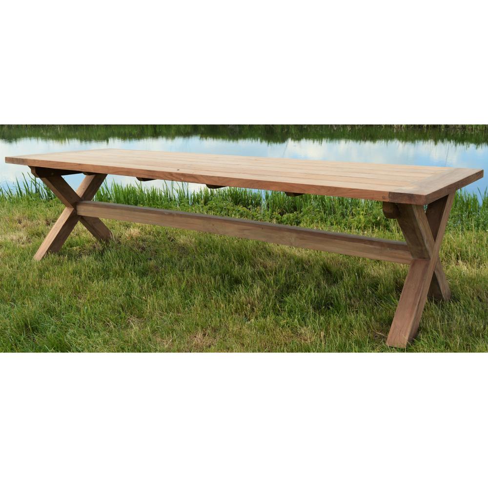 Teak Tisch 41 x 41 cm CROSS Gartentisch Esstisch Teaktisch