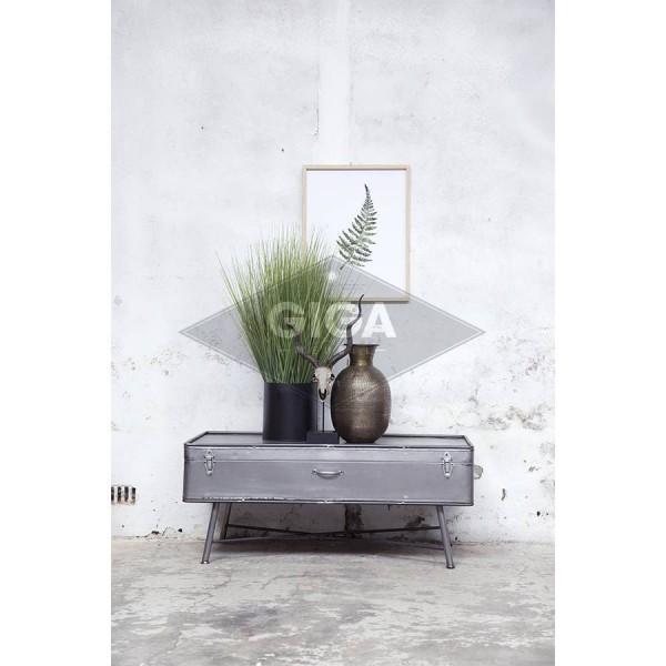 Kaffeetisch Iron 110 x 60 cm Metall Vintage grau Sofatisch Beistelltisch Tisch
