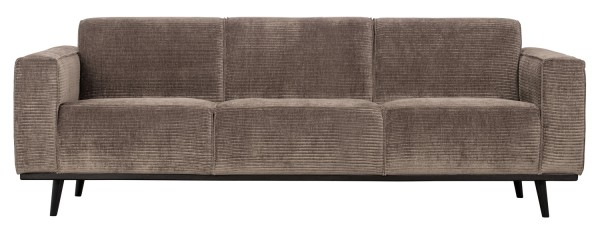 BePureHome 3 Sitzer Sofa Statement Rib Cord taupe Couch