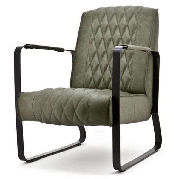 Exclusiver Sessel CARO grün Polsterstuhl Esszimmer Esszimmerstuhl Relaxsessel