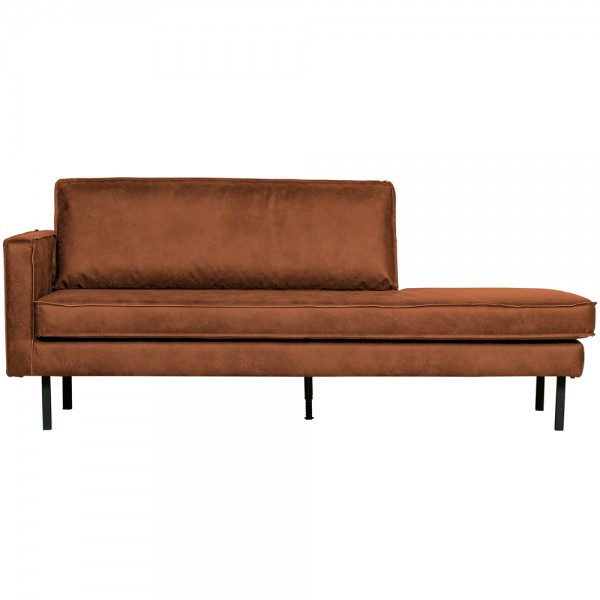 BePureHome Sofa Chaiselongue RODEO Recamiere links recyceltes Leder cognac