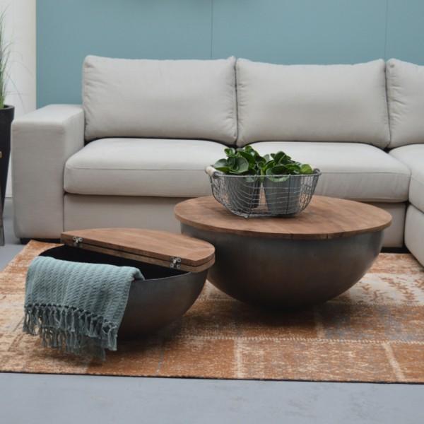 Couchtisch Bowl Suzan Ø 60 cm Metall Holz rund