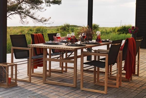 Exclusiver Design Gartentisch Premium Teakholz natur 230 x 95 cm