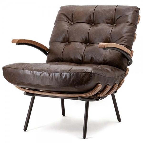 Ledersessel dunkelbraun Bastiaan Leder Sessel Fernsehsessel Loungesessel
