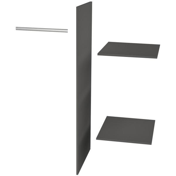 Zusatzpaket für Kleiderschrank Connect 2 Türen Seite Böden Kleiderstange Kiefer schwarz