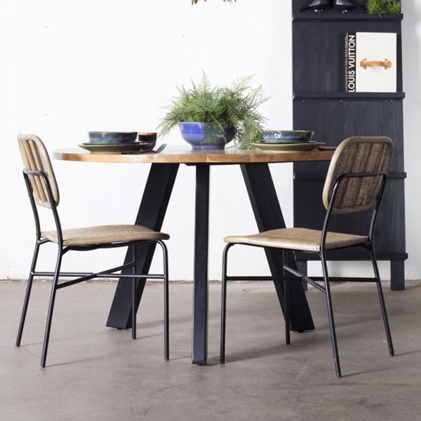 Industrie Esstisch NOHA Ø 120 cm Holztisch Küchentisch