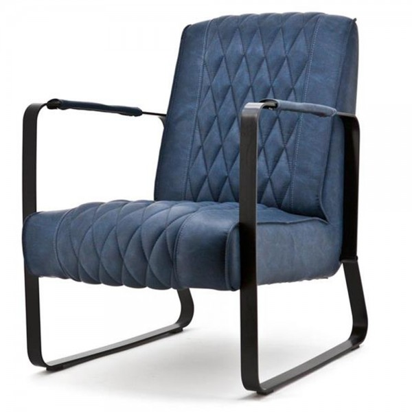 Exclusiver Sessel CARO blau Polsterstuhl Esszimmer Esszimmerstuhl Relaxsessel
