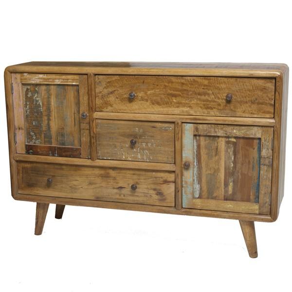Vintage Landhaus Kommode 3 Schubladen Holzschrank Aufbewahrungsschrank Sideboard
