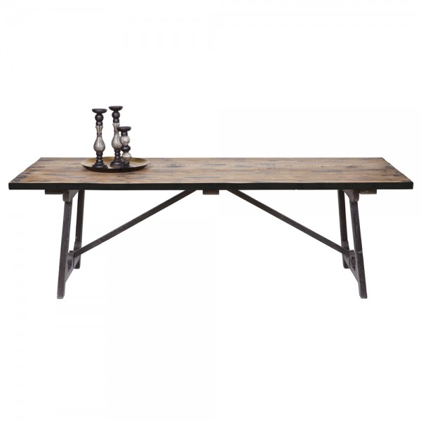 Esstisch CRAFT 220 x 90 cm Holztisch Dinnertisch Tisch Kiefer Esszimmertisch