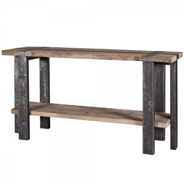 Industriedesign Konsole B 172 cm Holz Anstelltisch Sideboard Tisch Konsolentisch