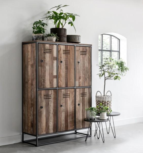 d-Bodhi Schrank Küchenschrank TUAREG mit 6 Türen recyceltes Teak Holz