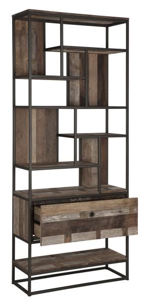 d-Bodhi Regal Bücherregal TUAREG mit Schublade recyceltes Teak Holz