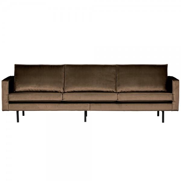 bePure 3 Sitzer Sofa Rodeo Samt taupe