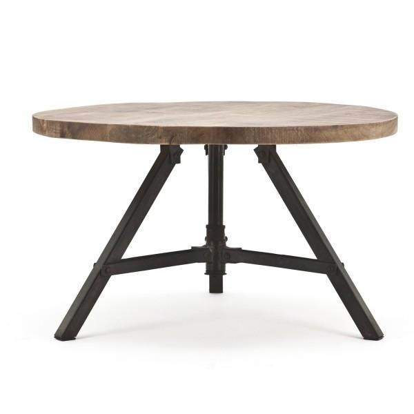 BY-BOO Couchtisch Discus rund Ø 60 cm Mango Holz