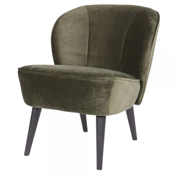Vintage Sessel Polstersessel SARA Samt Loungesessel Clubsessel Fernsehsessel