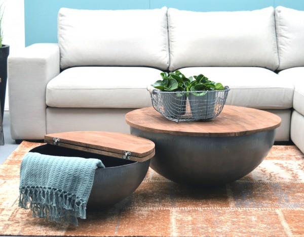 Couchtisch Bowl Suzan rund Ø 80 cm aufklappbar