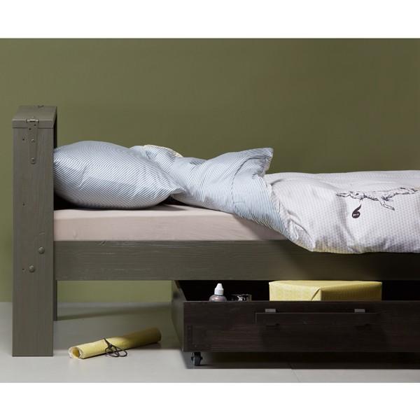 Kinder Jugend Bett DERK 200 x 90 cm Kinderbett Jugendbett Bettkasten Bettlade