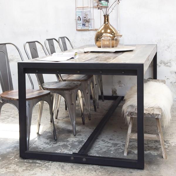 industrie esstisch 220 x 100 cm esszimmertisch dinnertisch. Black Bedroom Furniture Sets. Home Design Ideas