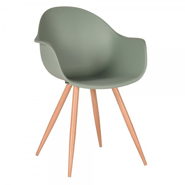 Schalenstuhl Parma waldgrün Armlehne Stuhl Esszimmerstuhl Esszimmer Armlehnstuhl Stühle