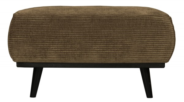 BePureHome Hocker Statement Rib Cord rock Fußhocker Pouf