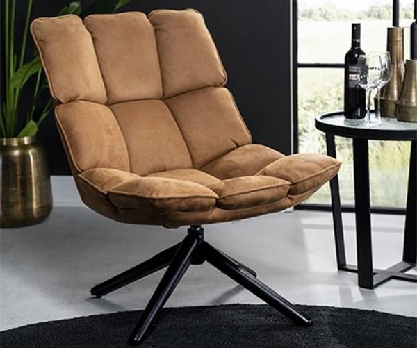 Sessel drehbar Relaxsessel DAAN cognac Loungesessel Clubsessel