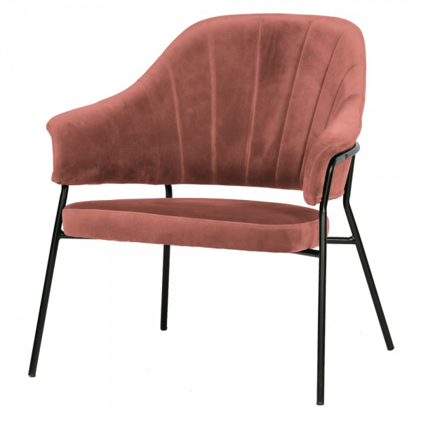 Sessel Bobby Samt coral Chair Stuhl Armlehnsessel