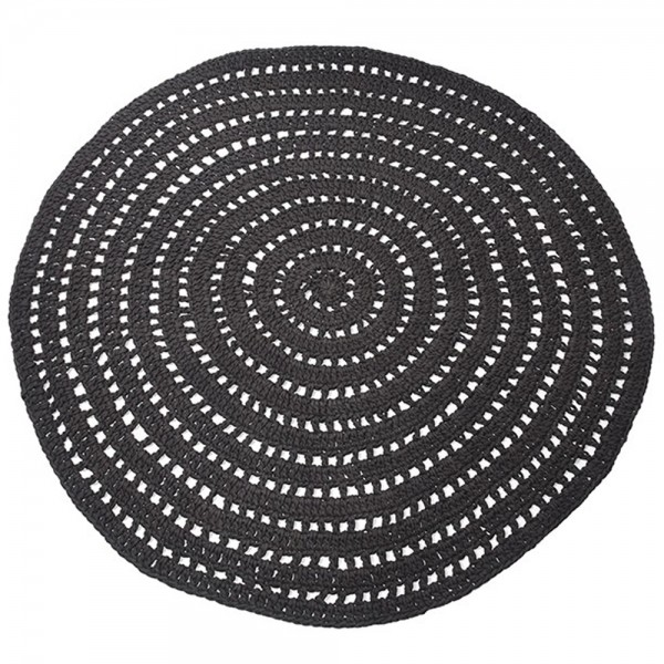 Vintage Teppich Knitted Ø 150 cm Carpet Teppiche Landhausteppich Baumwolle