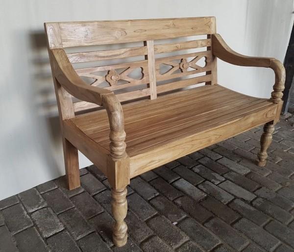 2 Sitzer Gartenbank Fix Kasar 120 cm Bank Teakholz