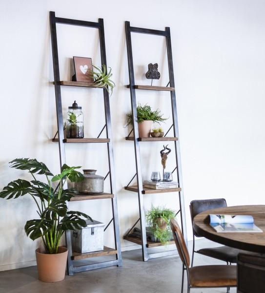 Bücherregal Stufenregal 245 cm hoch Leiterregal