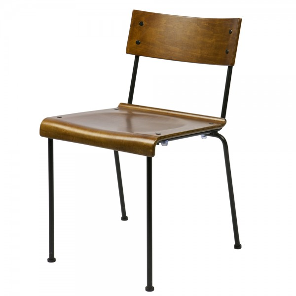 vintage stuhl holz metall schulstuhl schulsitz lehnstuhl schule holz metall new maison esto. Black Bedroom Furniture Sets. Home Design Ideas