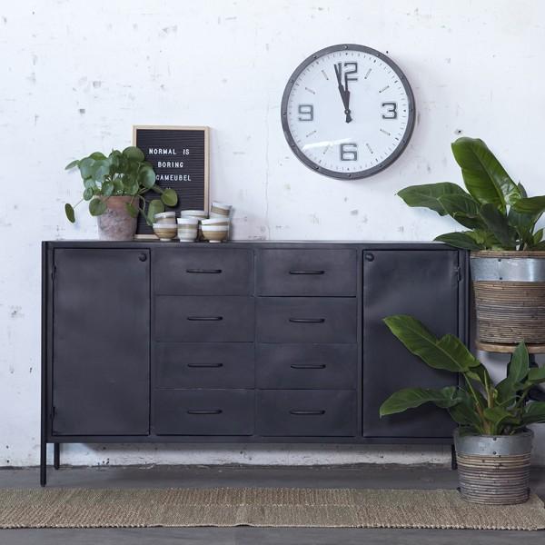 Industrie Sideboard FIK 160 cm Metall Kommode schwarz
