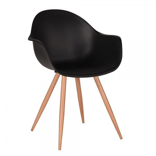Schalenstuhl Parma schwarz Armlehne Stuhl Esszimmerstuhl Esszimmer Armlehnstuhl Stühle