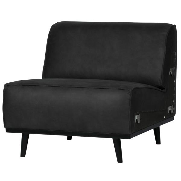 BePureHome 1 Sitzer Sessel Element Erweiterung Statement Wildlederimitat schwarz