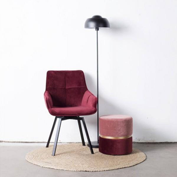 Esstischstuhl Stuhl drehbar Shannon Samt rot