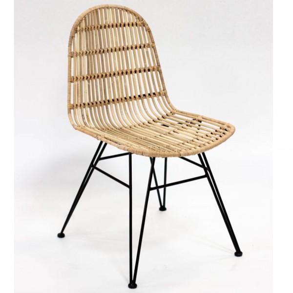 2er Set Stuhl Esszimmer Christy Rattan Rattanstuhl Küchenstuhl